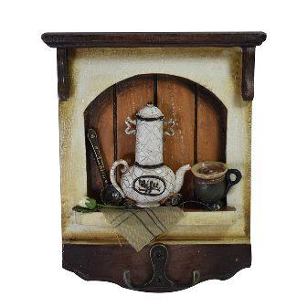 Porta Chaves Coffe 17 Cm