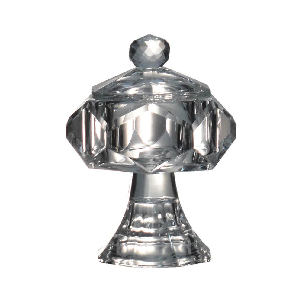 Porta Joias de Cristal Lapidado Delta 11 Cm