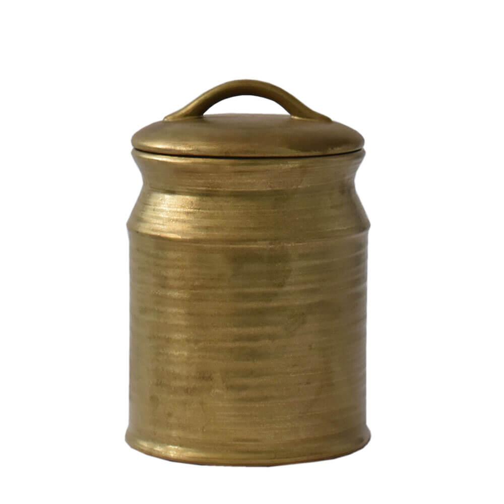 Potiche Dourado Reggio Latte P 21 Cm