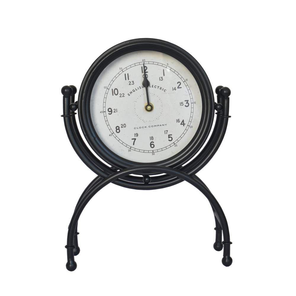 Relógio de Mesa Preto English 33,5 Cm