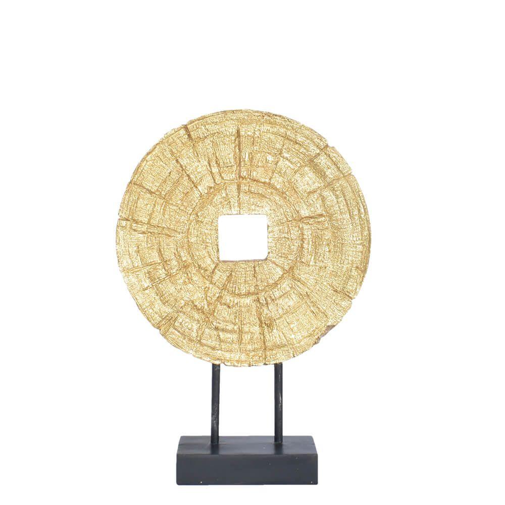Roseta Dourada Money 34 Cm