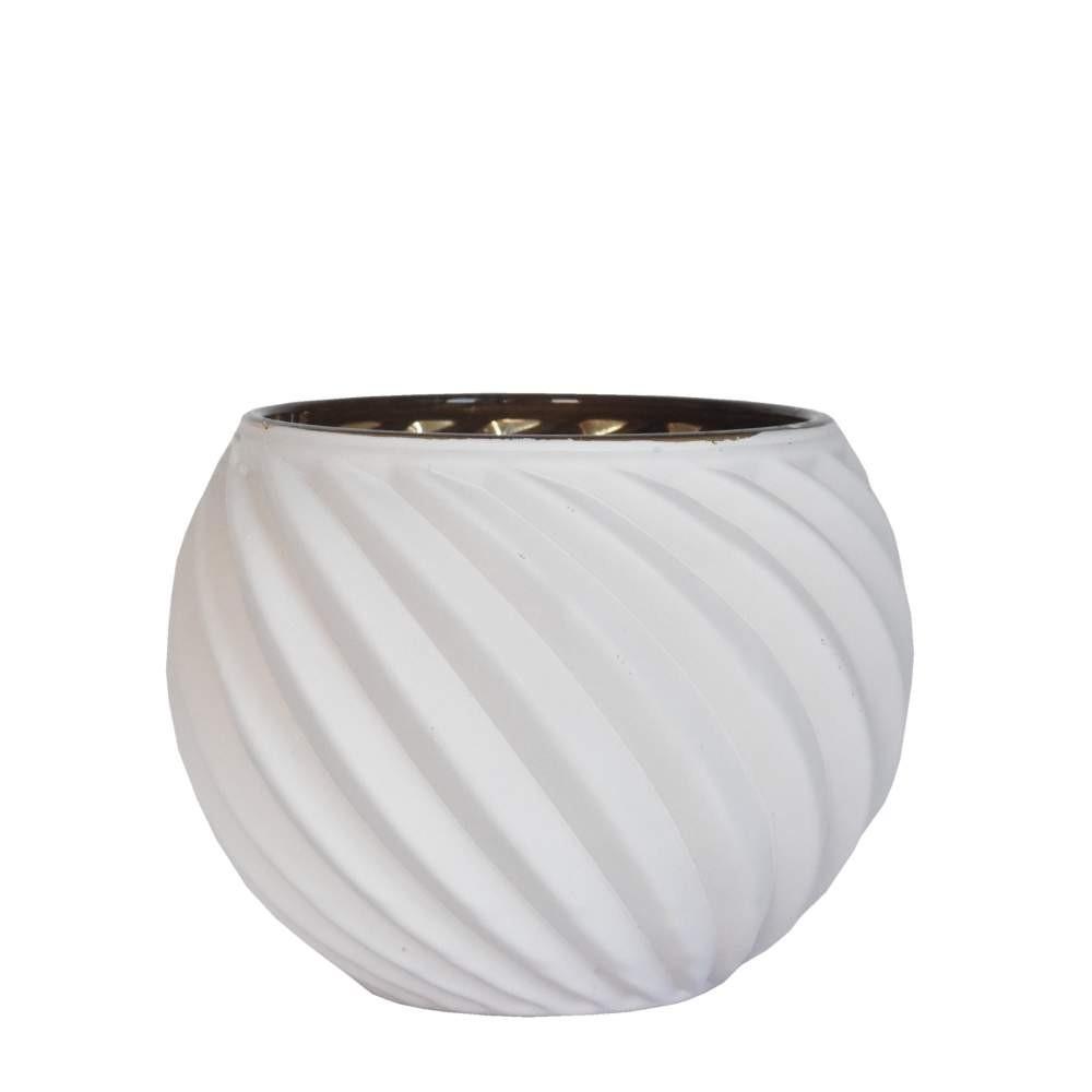 Vasinho Branco Lumen Helic 10 Cm
