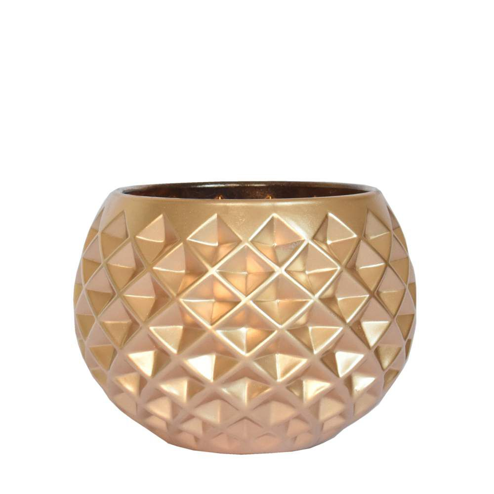 Vasinho Dourado Lumen Doro 10 Cm