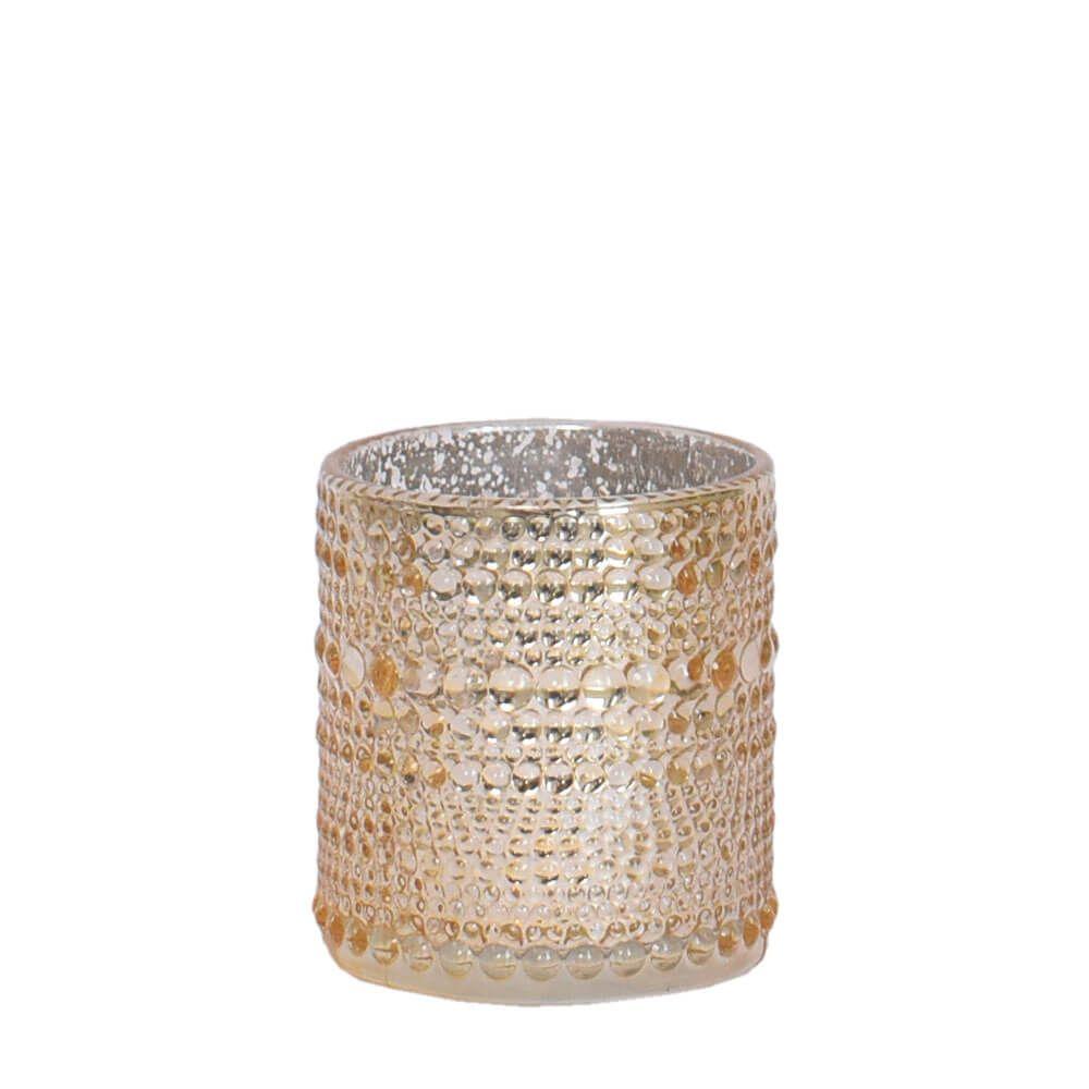 Vasinho Dourado Lumen Mix P 8 Cm