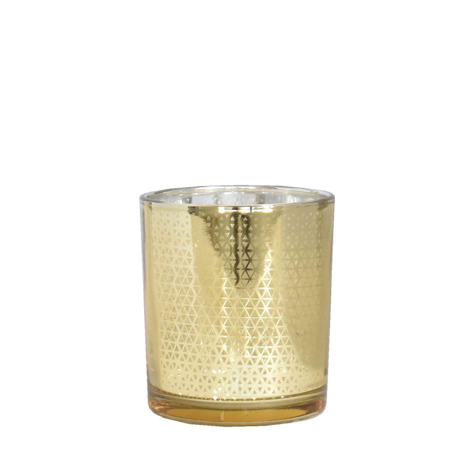 Vasinho Dourado Lumen Rezzo M 8 Cm