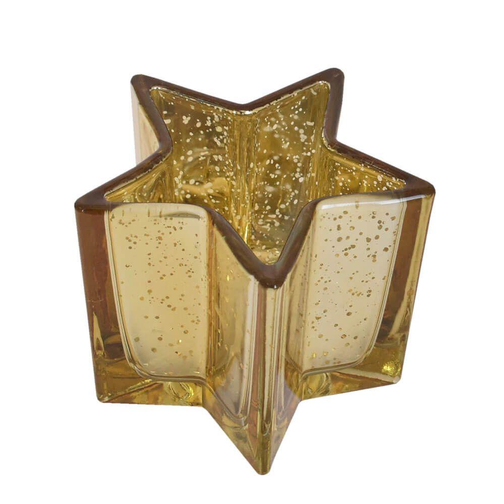 Vasinho Dourado Lumen Star G 10 Cm