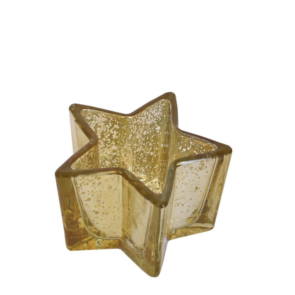 Vasinho Dourado Lumen Star P 6,5 Cm