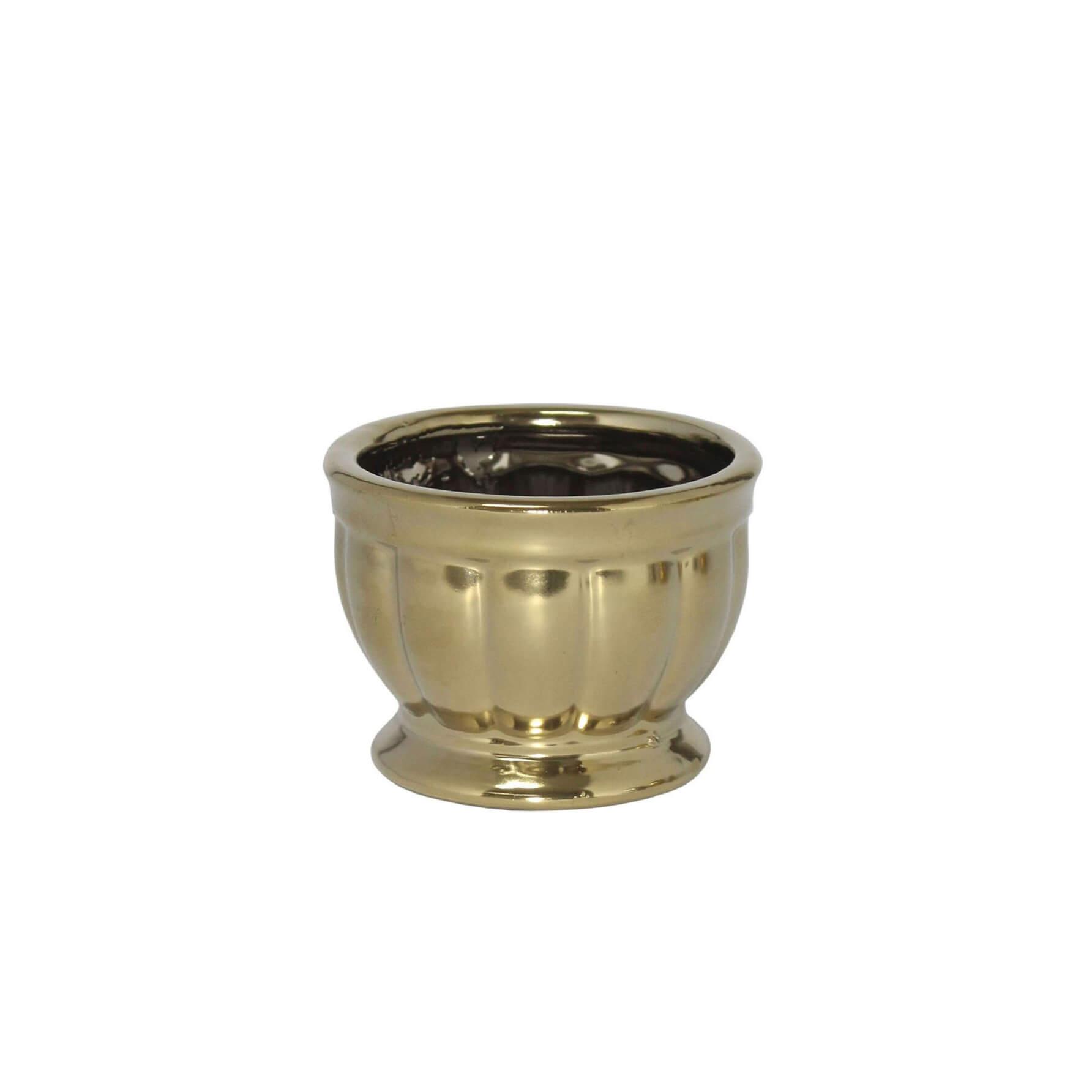 Vasinho Dourado Verona P 6,5 Cm