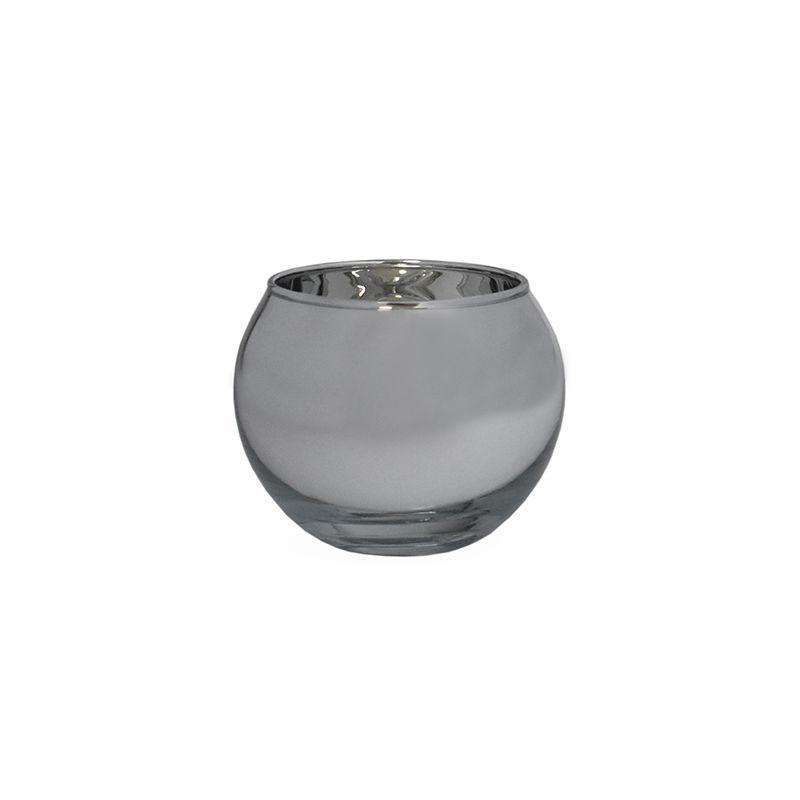 Vasinho Espelhado Prata Lumen Ball P 5,5 Cm