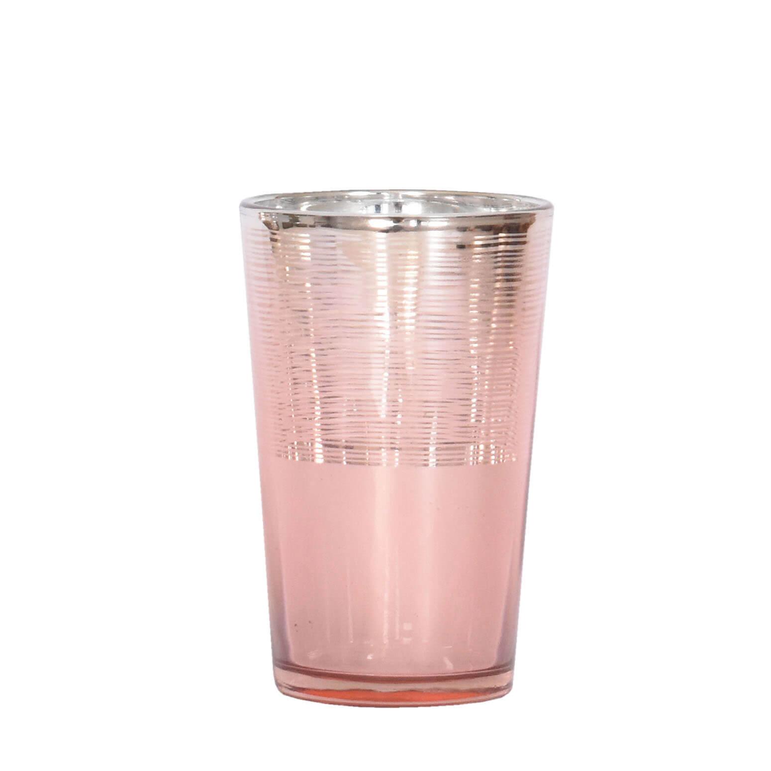 Vasinho Rosa Lumen Cone G 11 Cm
