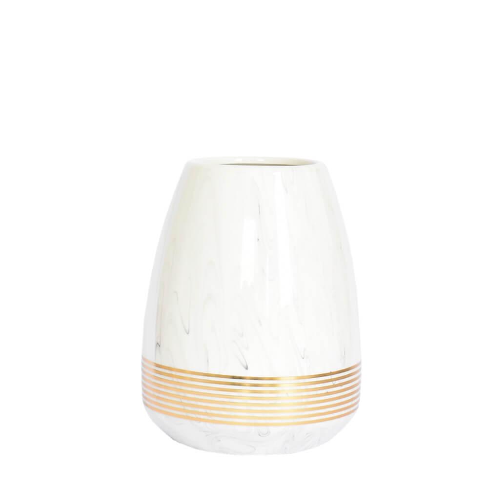 Vaso Branco Alforge P 19,5 Cm