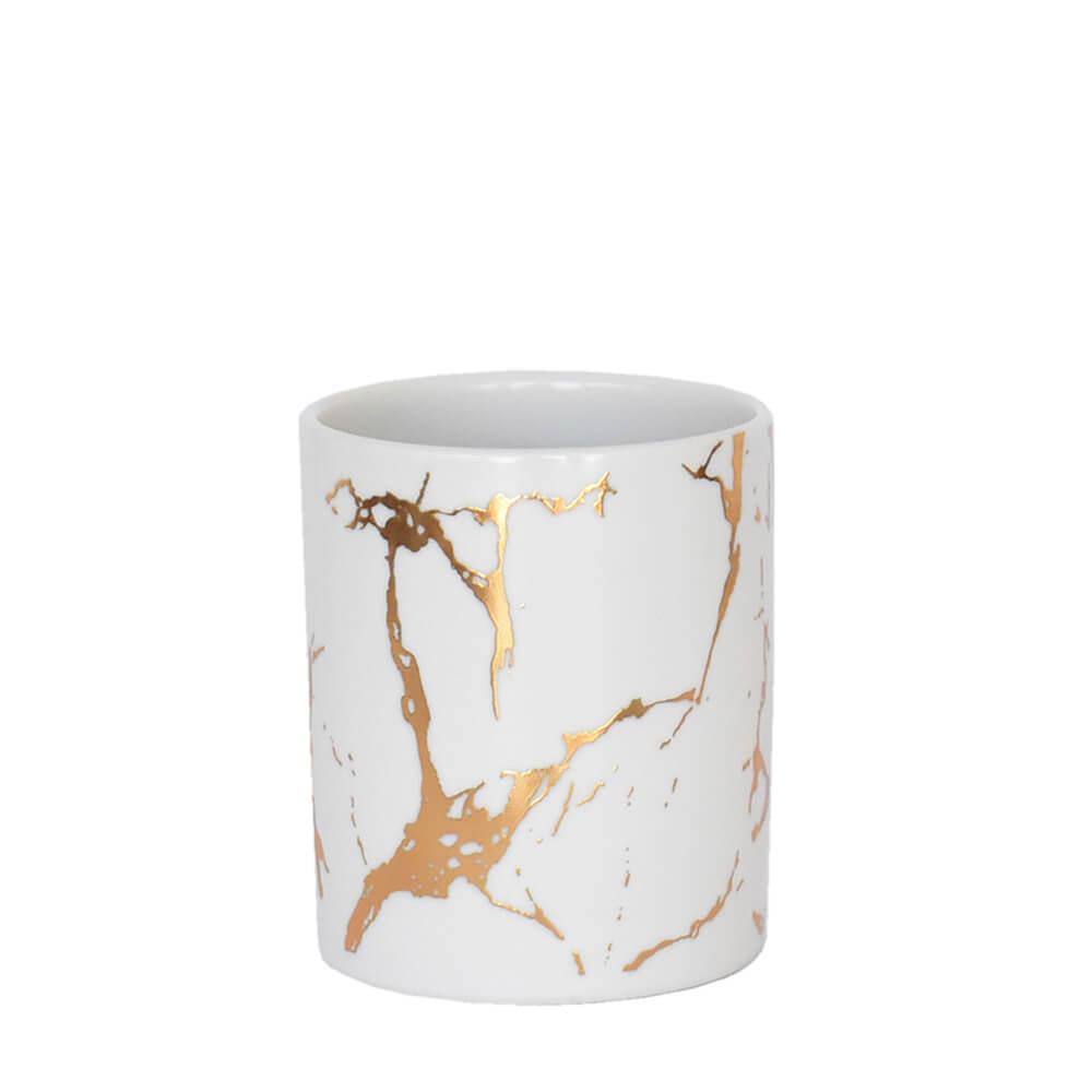 Vaso Branco Lacron M 9,5 Cm