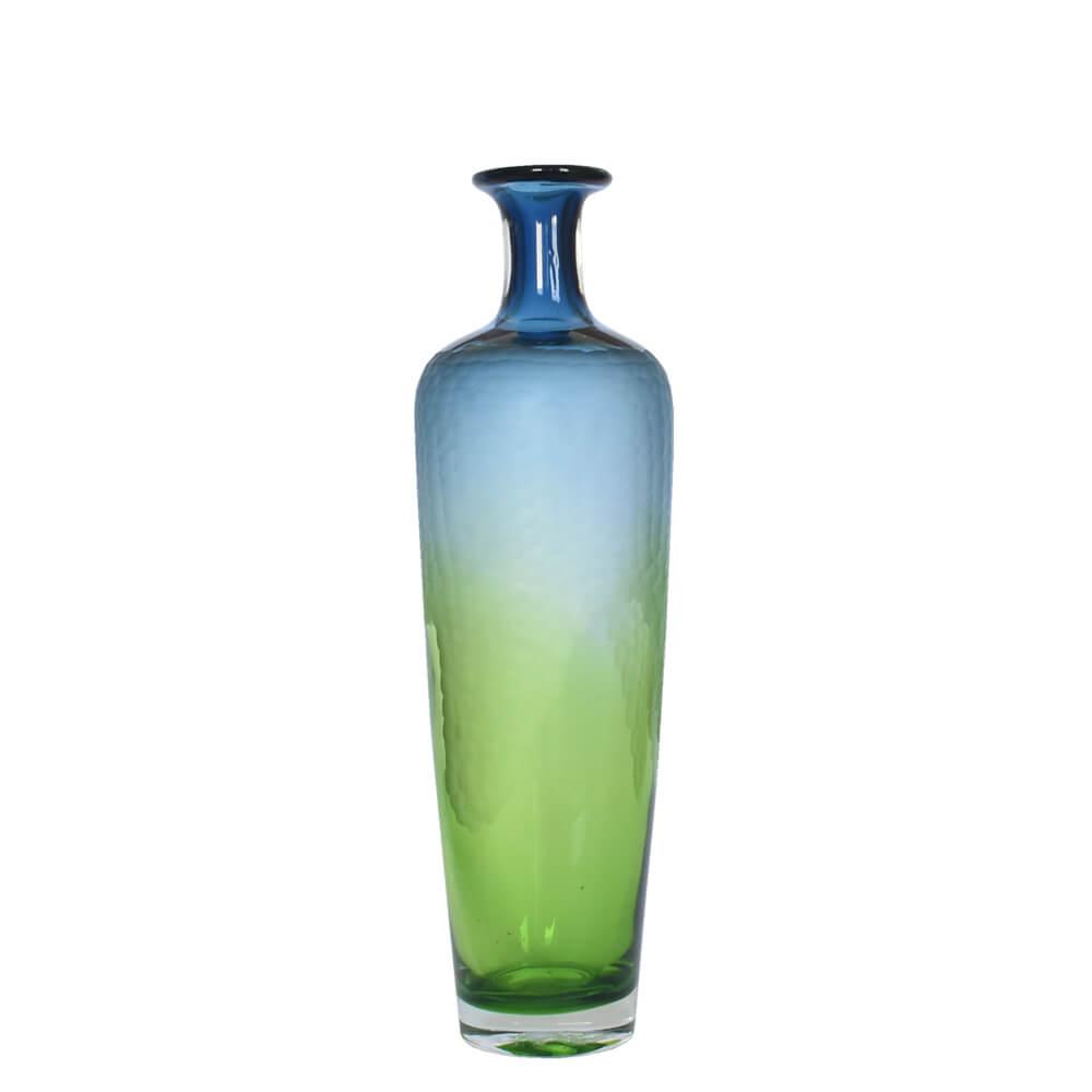 Vaso Degradê Azul e Verde Ornati P 40 Cm