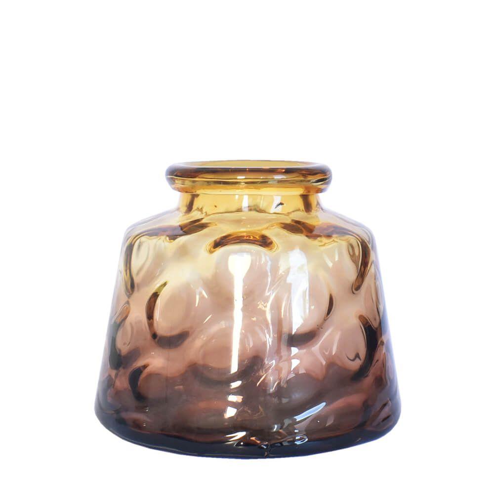 Vaso Degradê Laranja e Marrom Jianno P 19,5 Cm