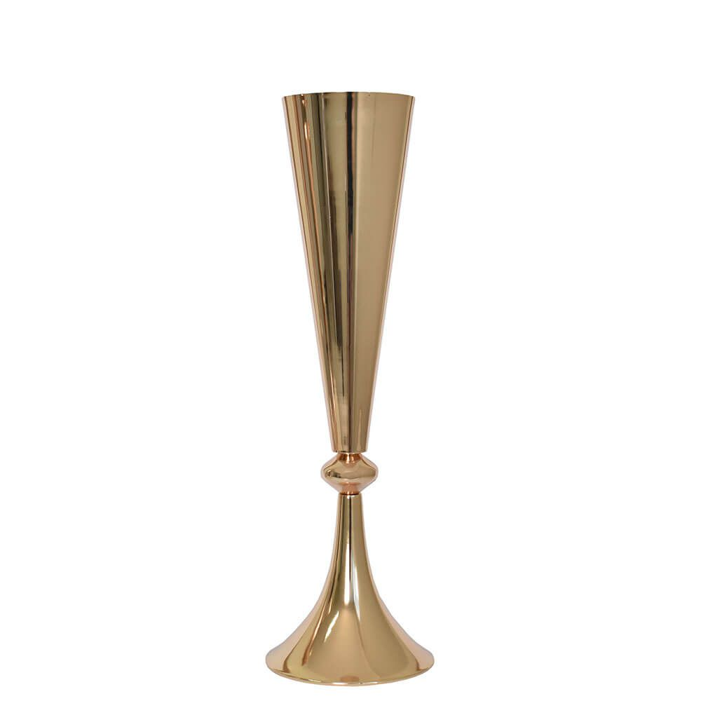 Vaso Dourado de Metal Kells 48 Cm
