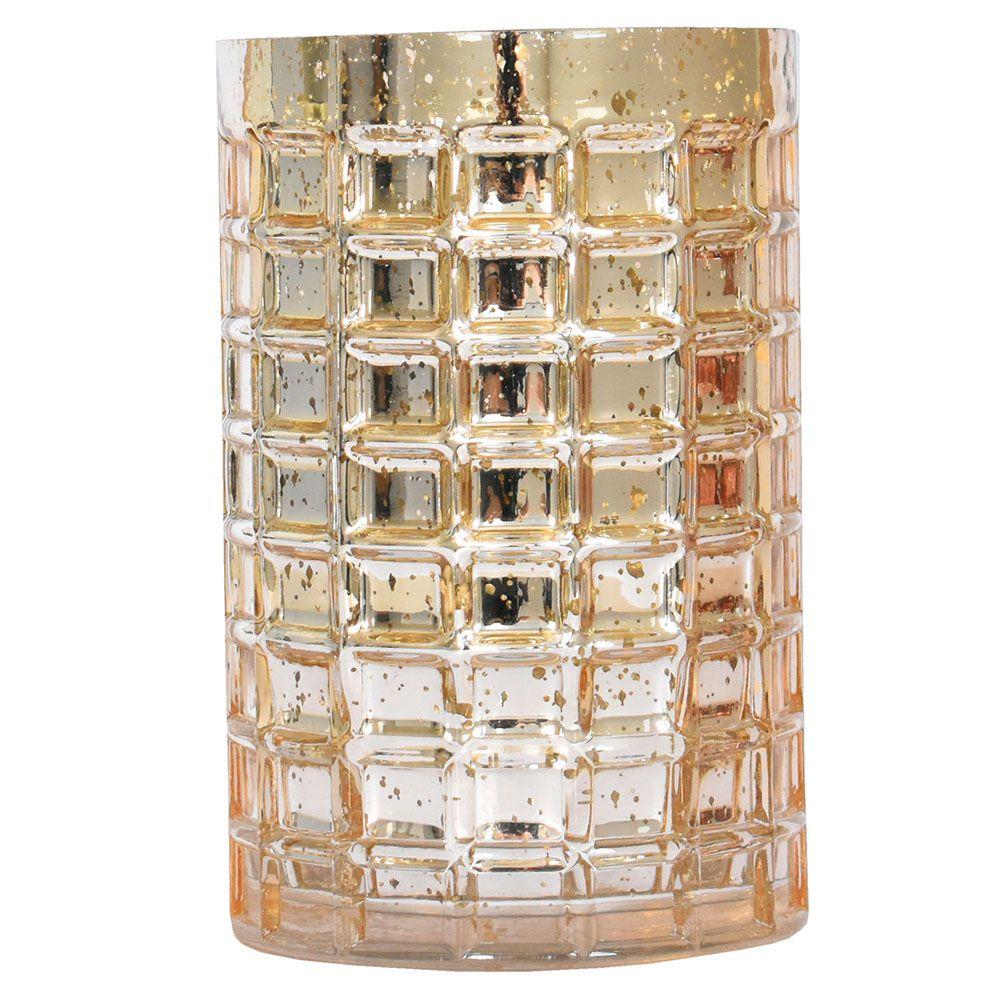 Vaso Dourado Megbrick 19,5 Cm