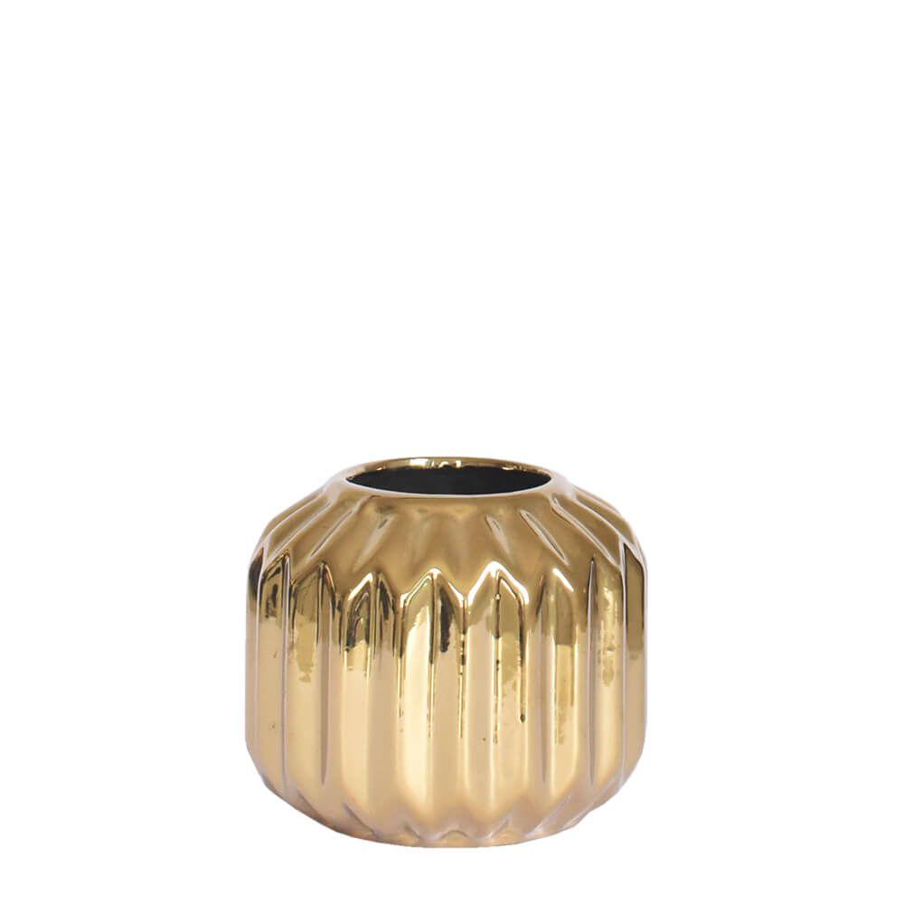 Vaso Dourado Montesi P 9,5 Cm