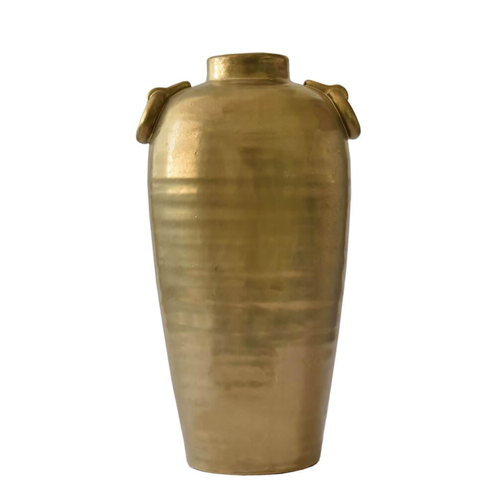 Vaso Dourado Reggio Strap 45 Cm