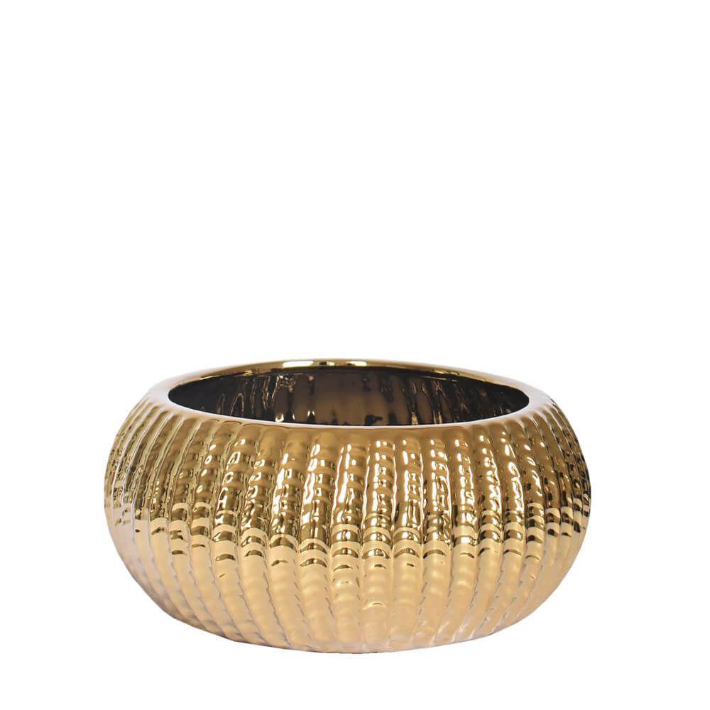 Vaso Dourado Solare P 22 Cm