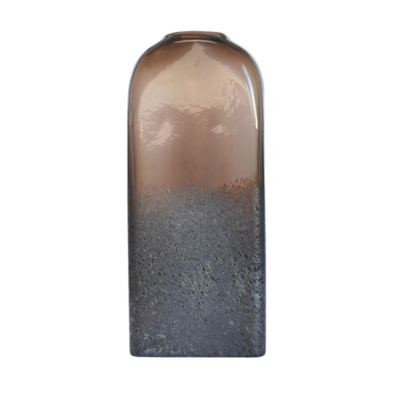 Vaso Marrom e Cinza Annoda G 35,5 Cm