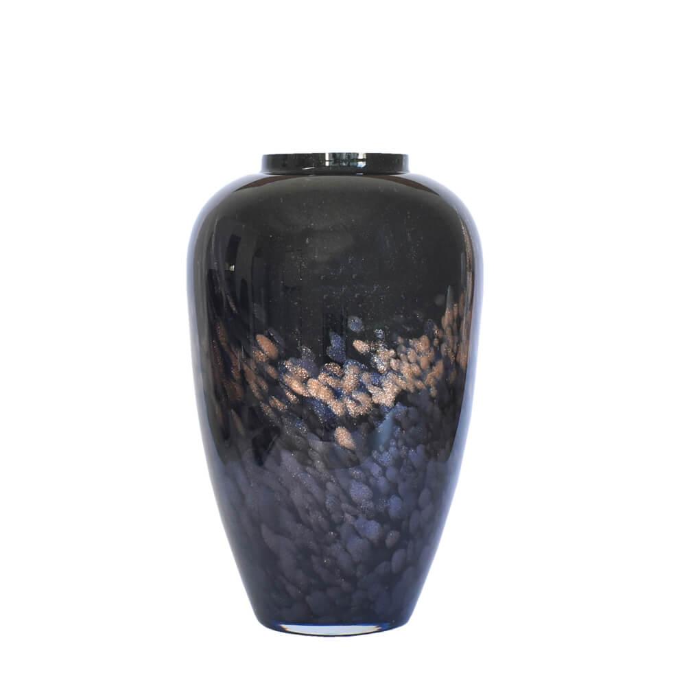 Vaso Preto com Brilhos Nerodor G 30 Cm