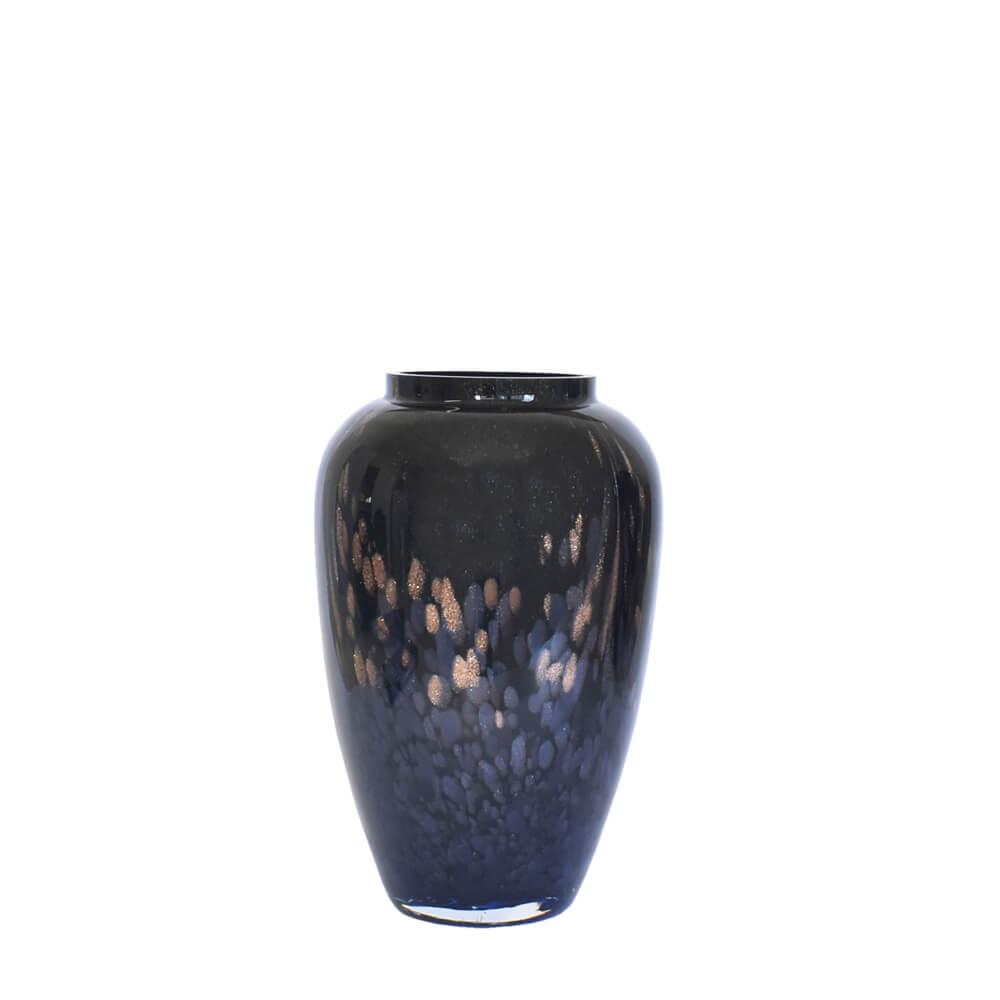 Vaso Preto com Brilhos Nerodor M 23 Cm