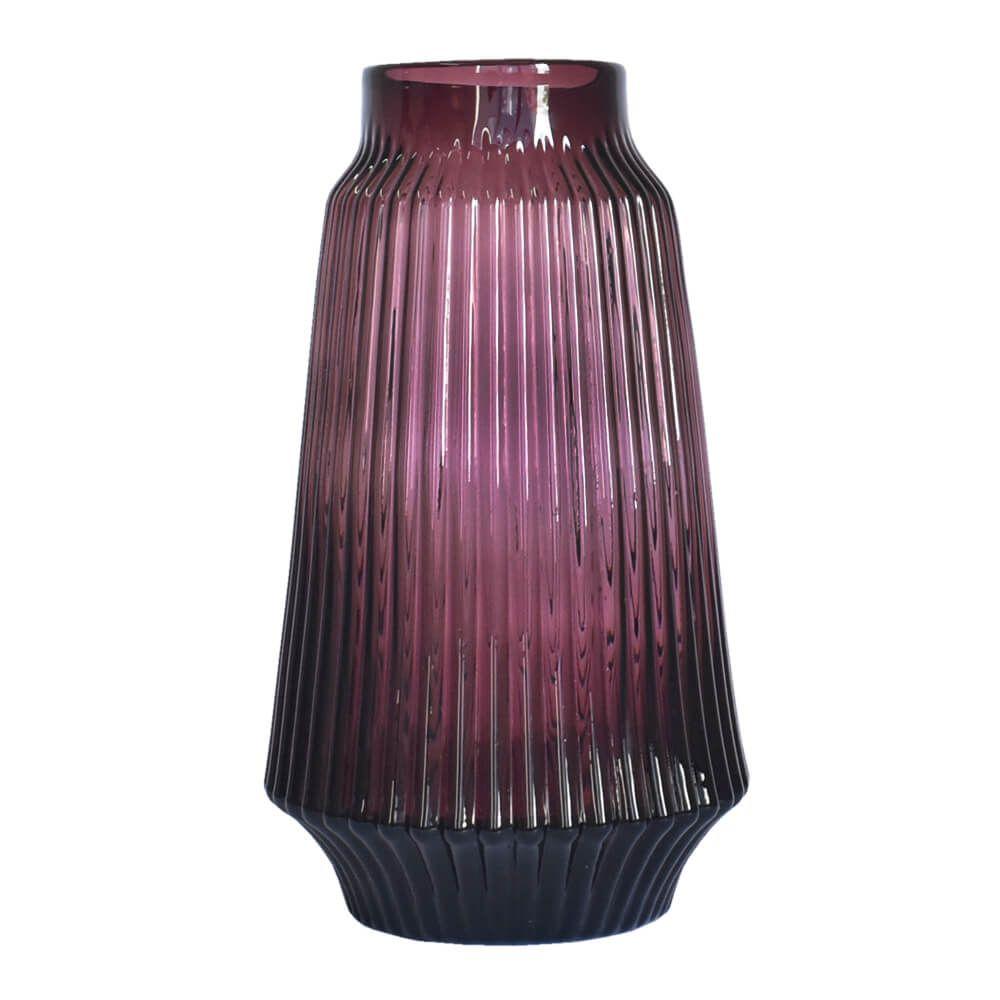 Vaso Roxo Castella G 32,5 Cm