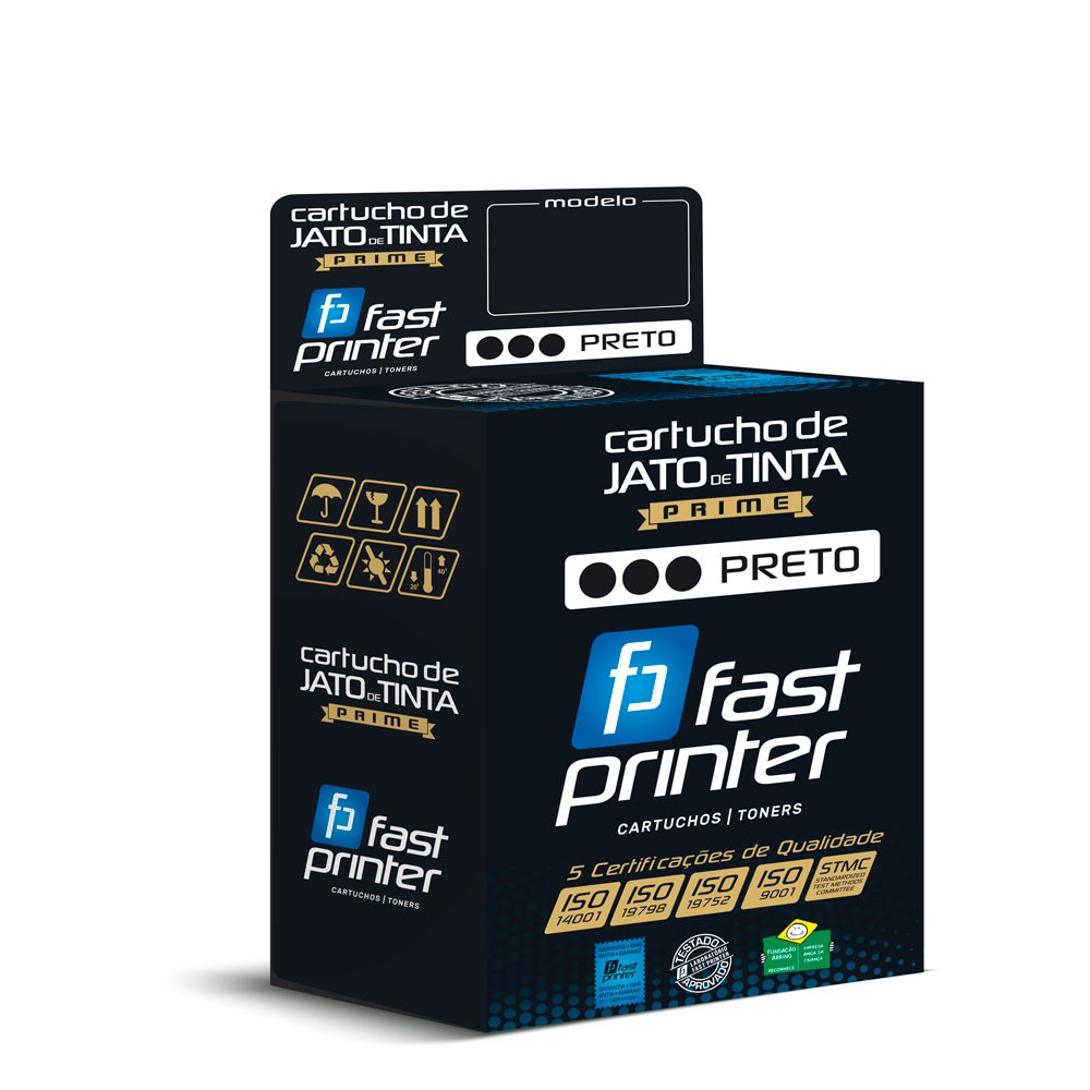Cartucho de Tinta Compatível com HP 934XL|C2P23AL C2P23AN C2P23AB| 6230 6830| Preto 53ml