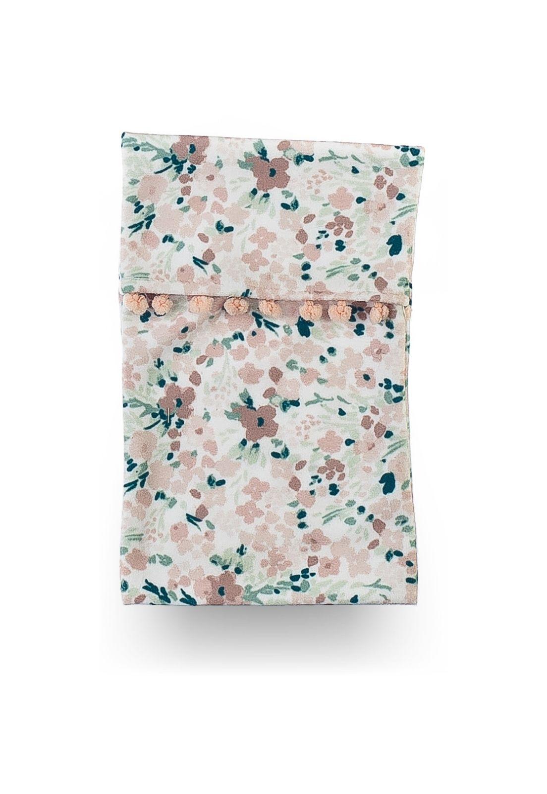 Bolsa Térmica de Sementes - Coleção Botânica Floral Rosa com Verde