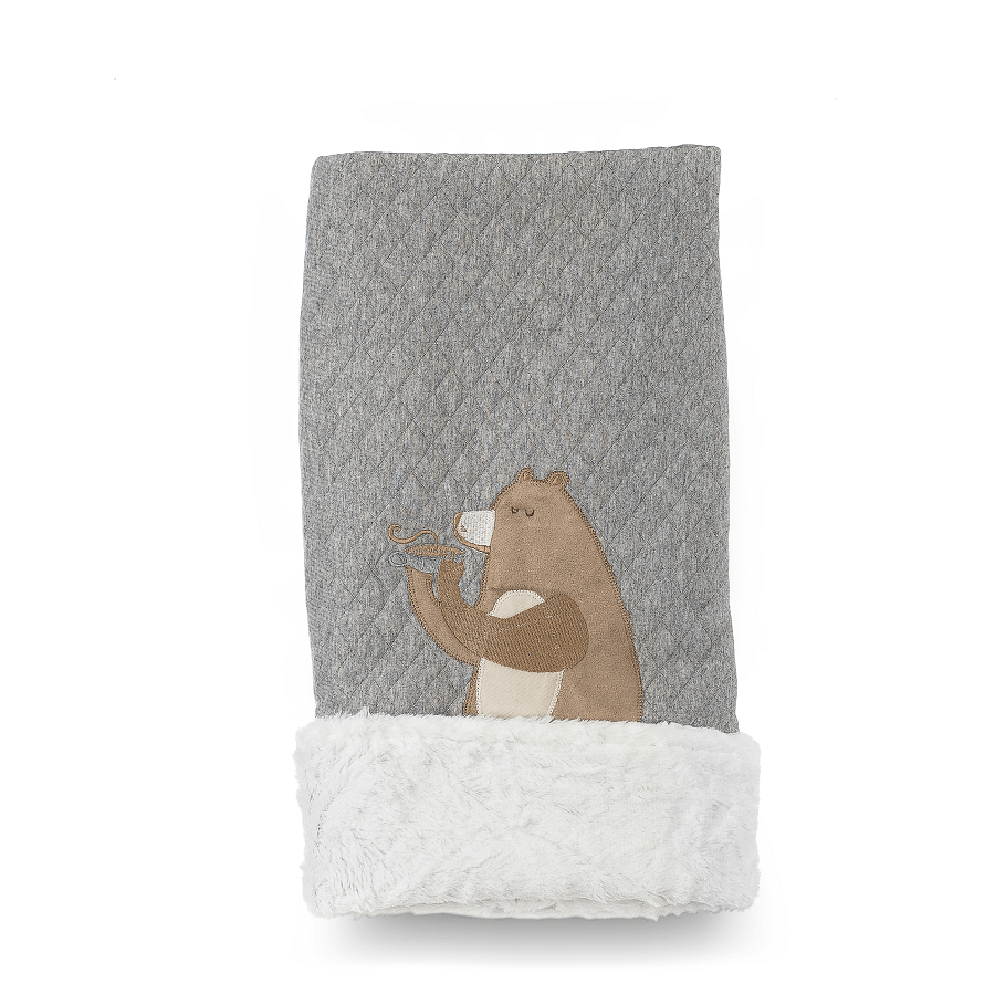 Cobertor Dupla-face Bordado e Peluciado - Coleção Floresta Verde