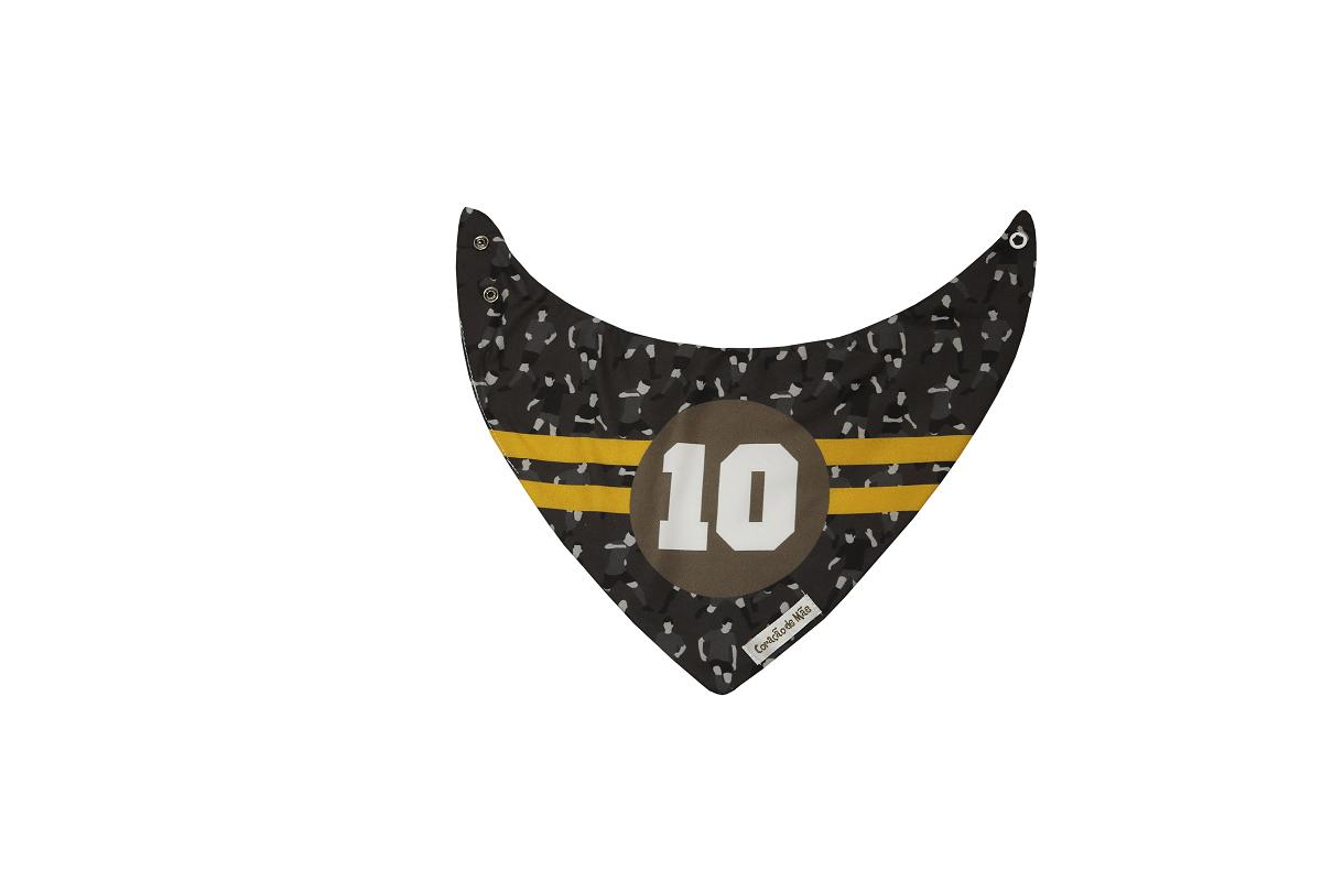 Kit 03 Babadores - Coleção Futebol Cinza e Amarelo