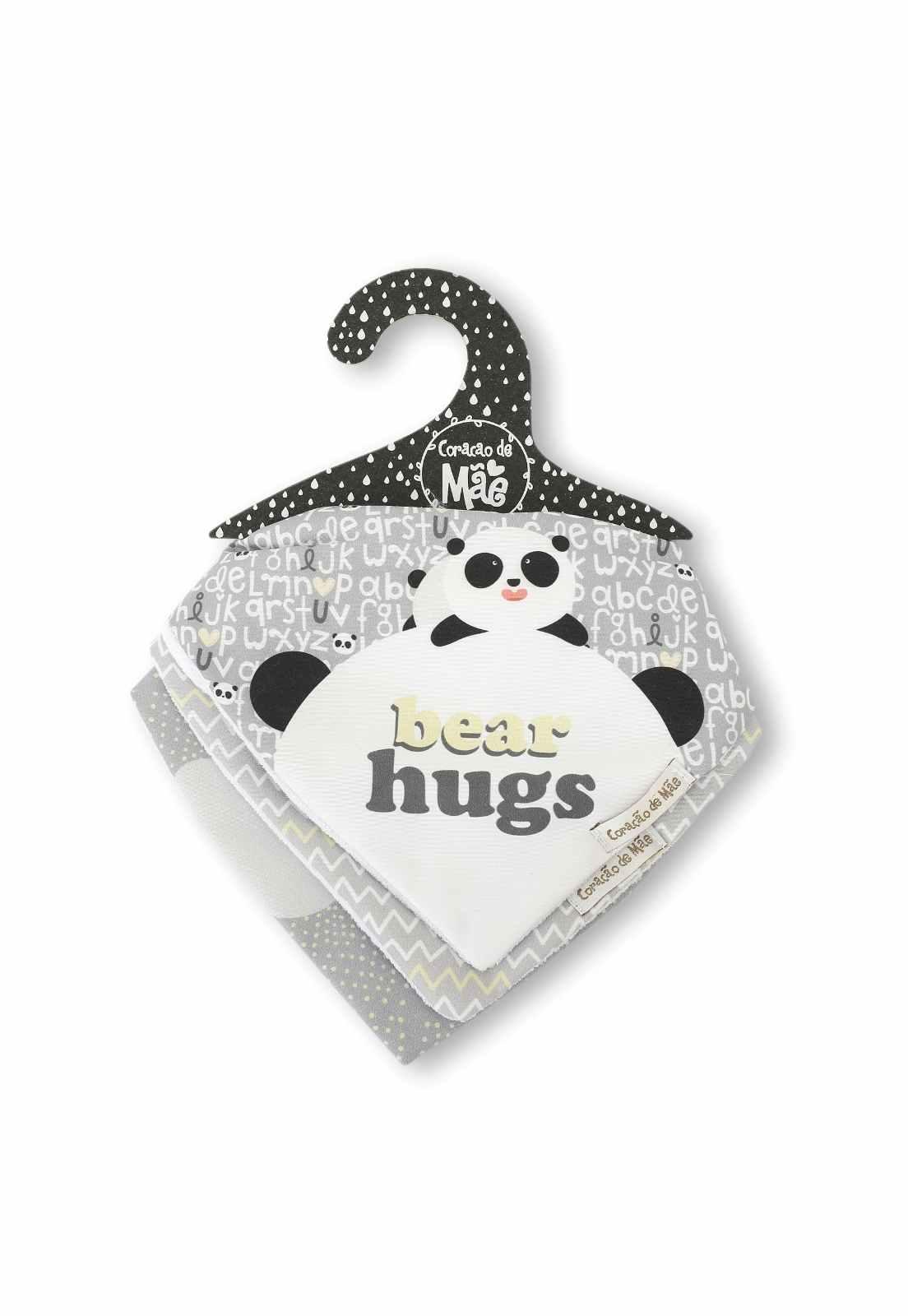 Kit 03 Babadores - Coleção Panda