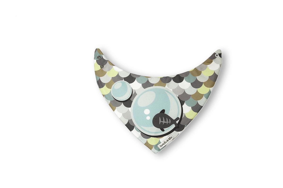 Kit 03 Babadores - Coleção Peixe Verde