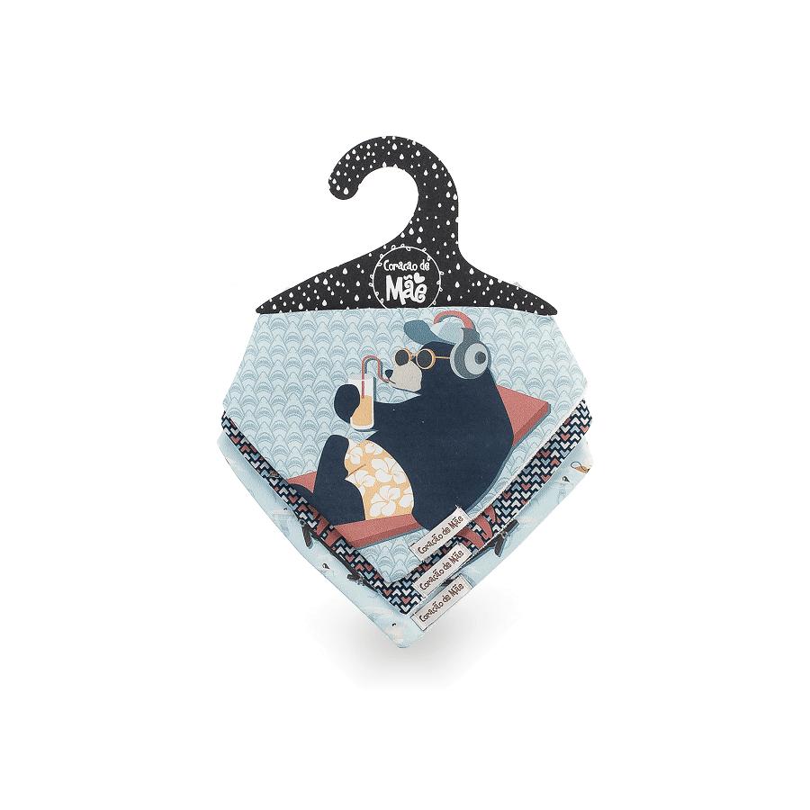 Kit 03 Babadores - Coleção Surfista Azul
