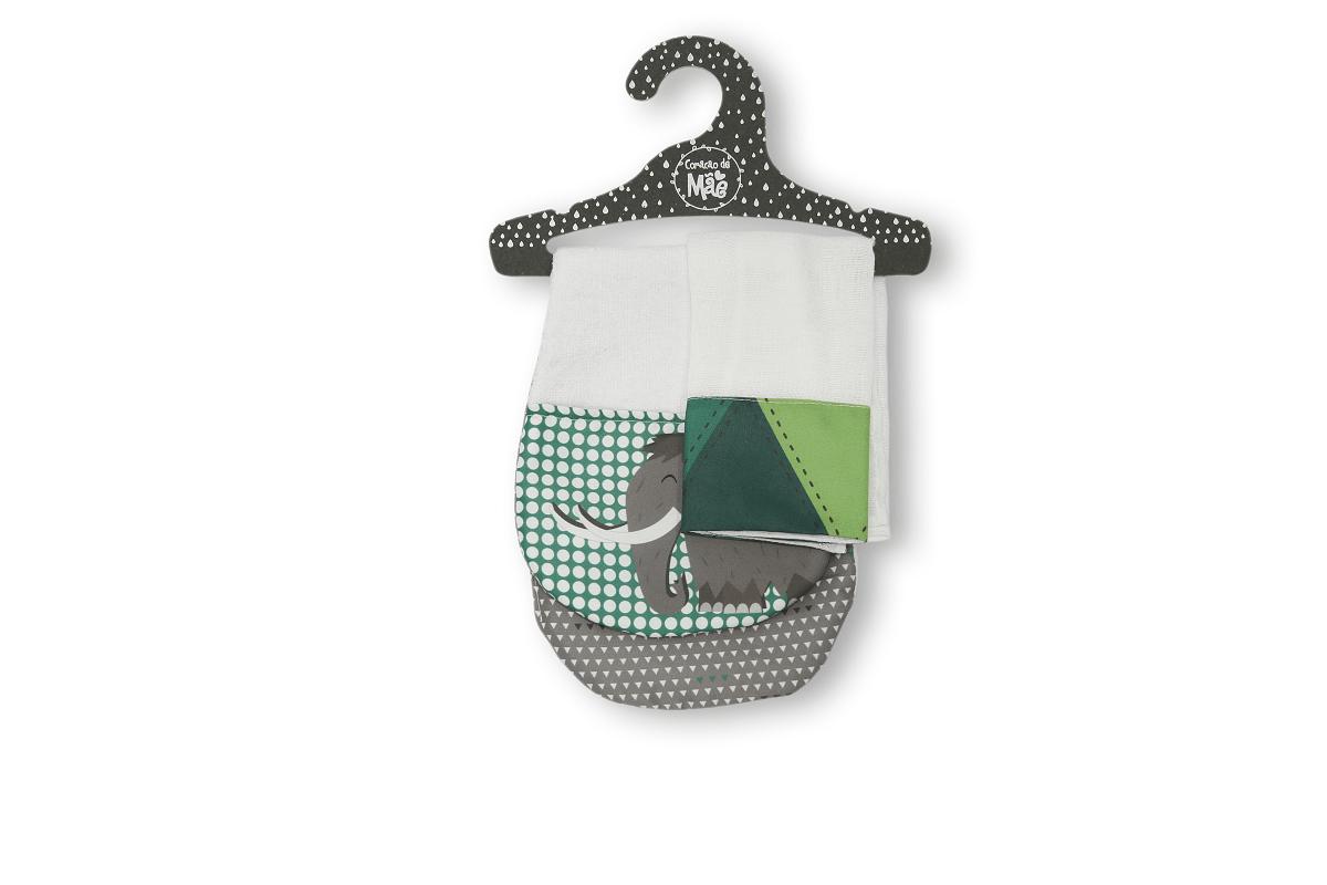 Kit Babador de Ombro + Babita - Coleção Mamute Verde