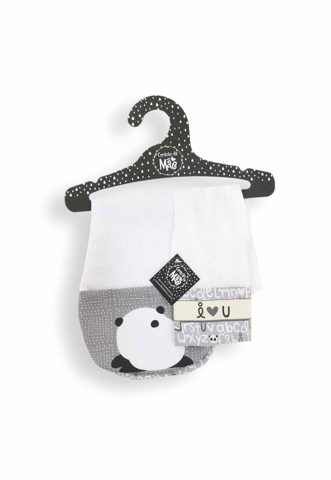 Kit Babador de Ombro + Babita - Coleção Panda
