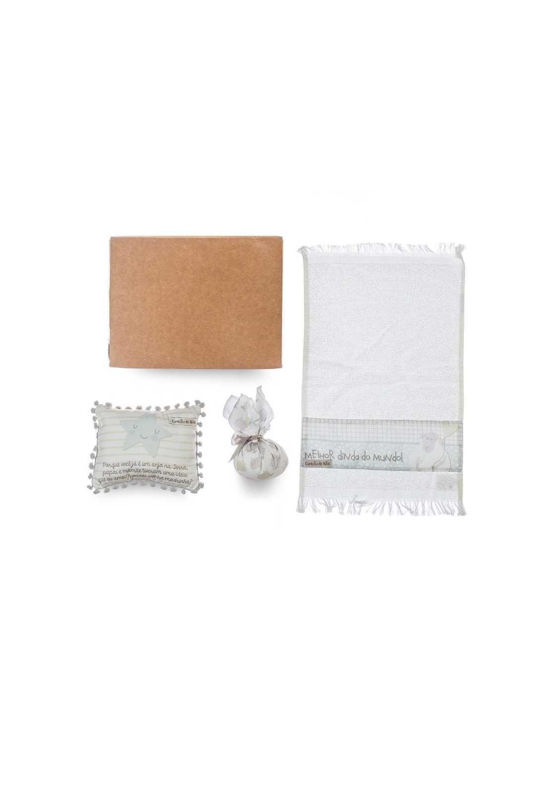 Kit Dinda - Almofadinha, Sachê e Toalha de Mão - Coleção Ovelhas