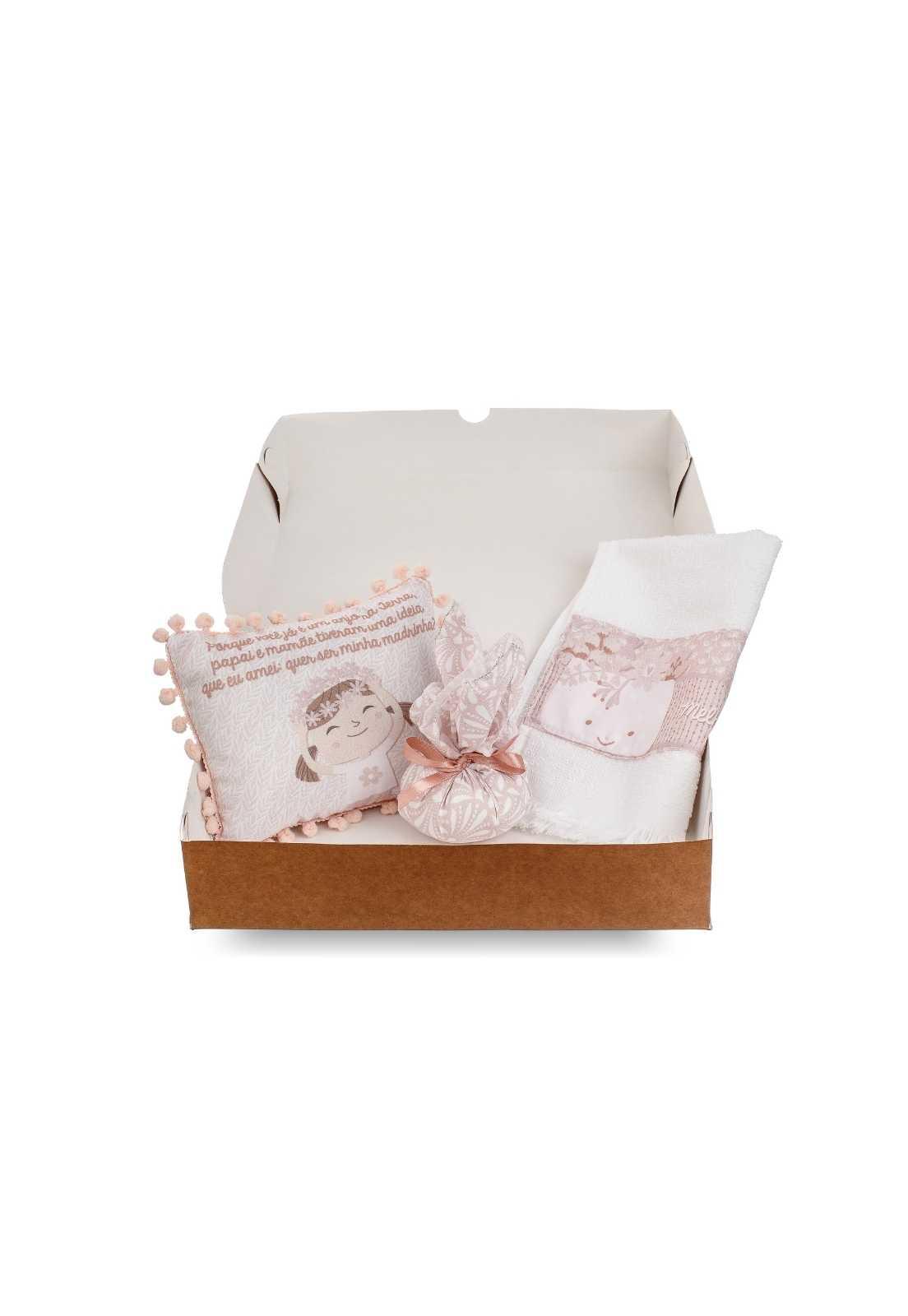 Kit Dindo - Almofadinha, Sachê e Toalha de Mão - Coleção Borboletinhas