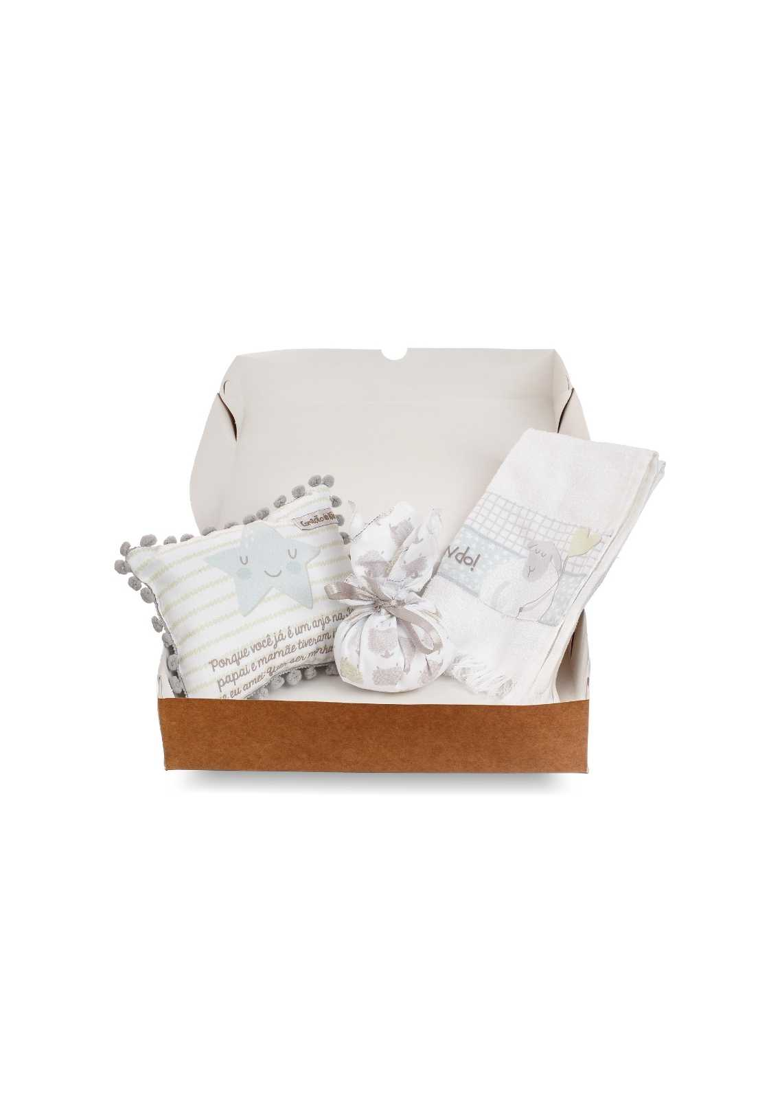 Kit Dindo - Almofadinha, Sachê e Toalha de Mão - Coleção Ovelhas