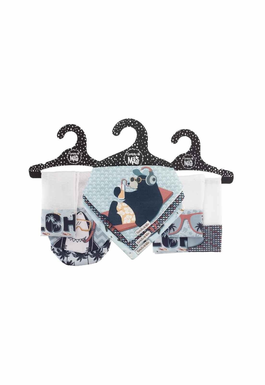 Kit Encanto 3 Baby Friday (Babita, babador e babador de ombro) - Coleção Surfista