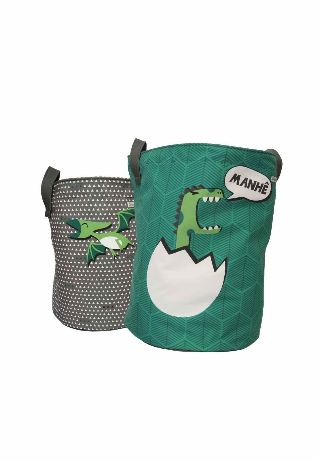 Kit Sacos de Brinquedo - Coleção Mamute Verde