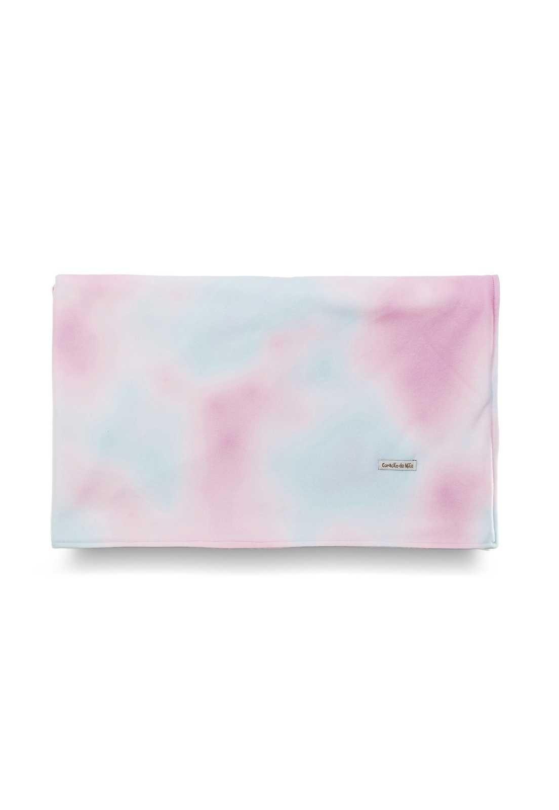 Manta Tie-dye - Rosa e Azul