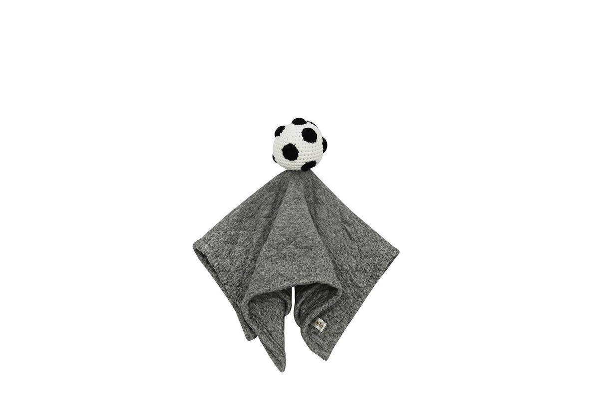 Naninha Amigurumi Bola feita à mão - Coleção Futebol com Cinza