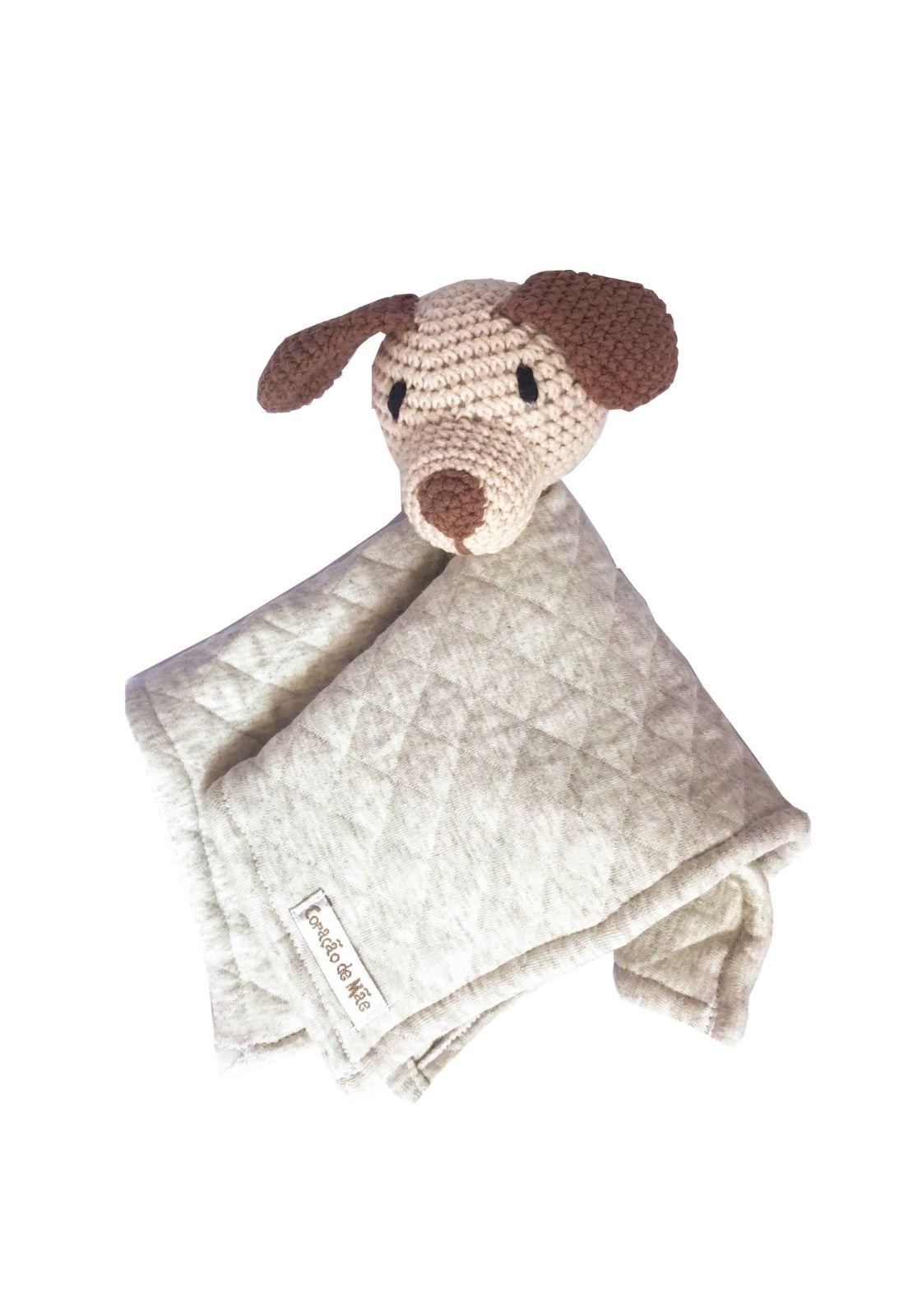 Naninha Amigurumi Cachorro feita à mão - Coleção Carros Antigos Bege com Cinza