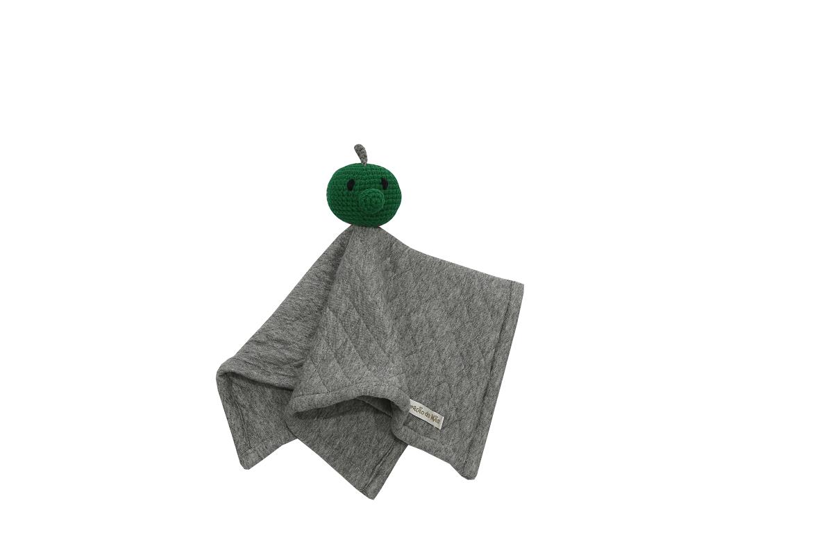 Naninha Amigurumi Dino feita à mão - Coleção Mamute Verde e Cinza