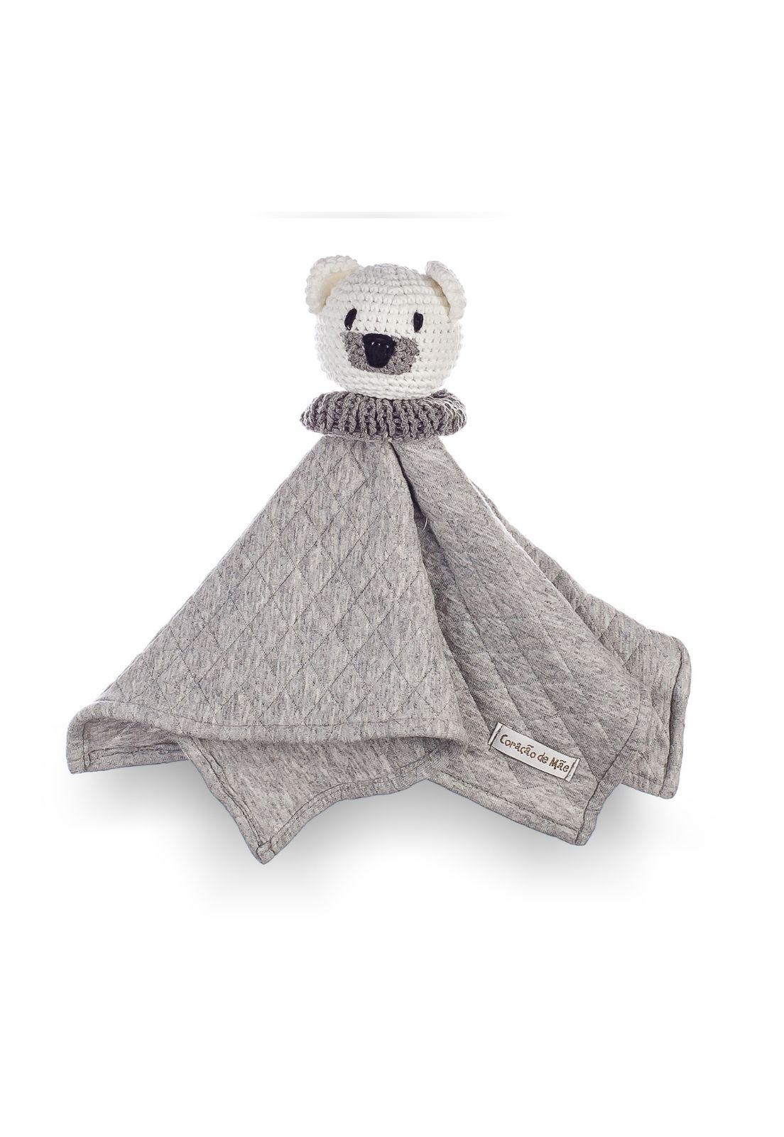 Naninha Amigurumi Urso Polar feita à mão - Coleção Ursos Branco com Cinza