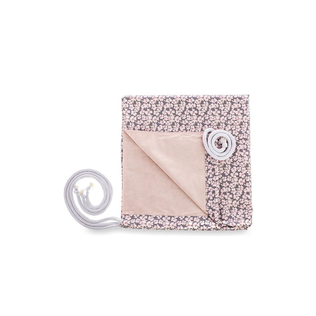Rede de Berço - Coleção Buque Rosa com Cinza