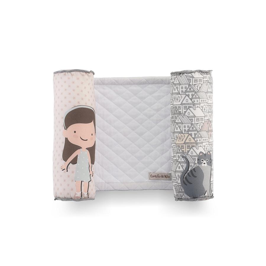 Rolinho Segura Bebê - Coleção Casinha Rosa com Branco