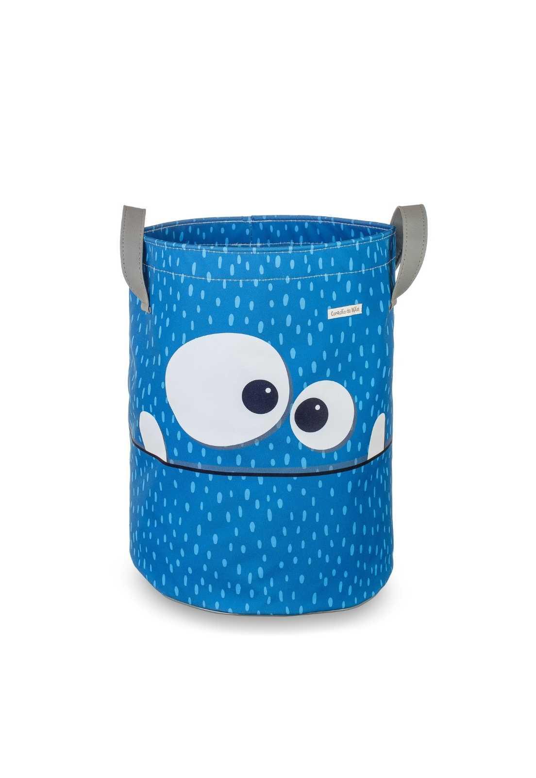 Saco de Brinquedos G -  Monstrinho Azul