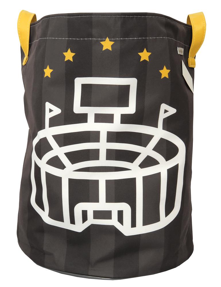 Saco de Brinquedos Gde - Coleção Futebol Cinza e Amarelo